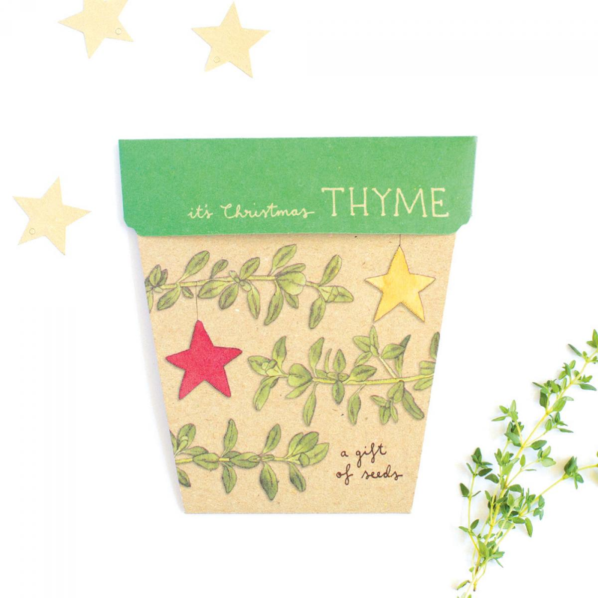 Sow 'n Sow Gift Card with Seeds - Christmas Thyme - Gift of Seeds - Throw Some Seeds - Australian gardening gifts and eco products online!