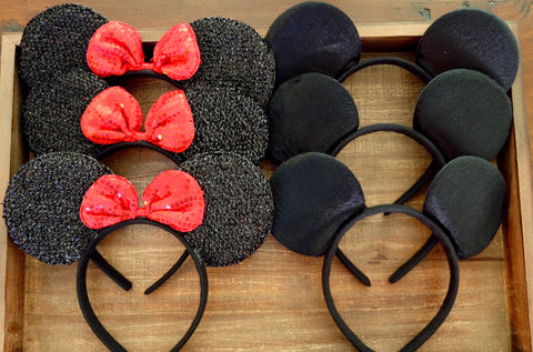 Mickey and Minne Mouse Ears Headbands