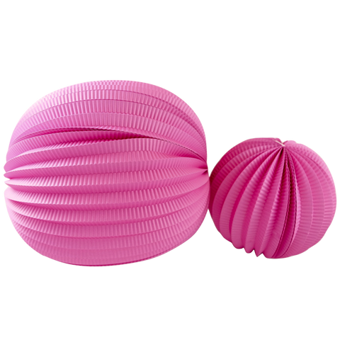 Hot Pink Accordion Pleated Paper Lanterns -