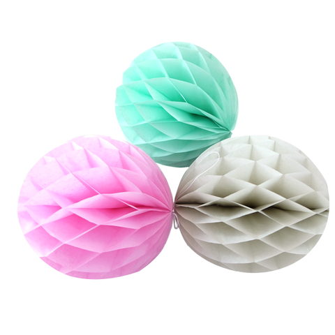Honeycomb Balls - Pink, Grey, Mint -