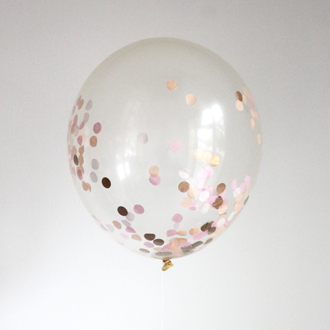 Confetti Filled Balloon - Sorbet -