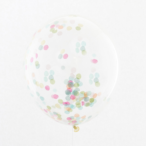 Confetti Filled Balloon - Rainbow  -