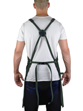 Professional Grade Apron for Kitchen, Grill, and BBQ (Green) - HDG805GR