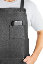 Hudson Durable Goods Home Denim Apron for Kitchen, Grill, and BBQ (Black Denim) - HDG805BD