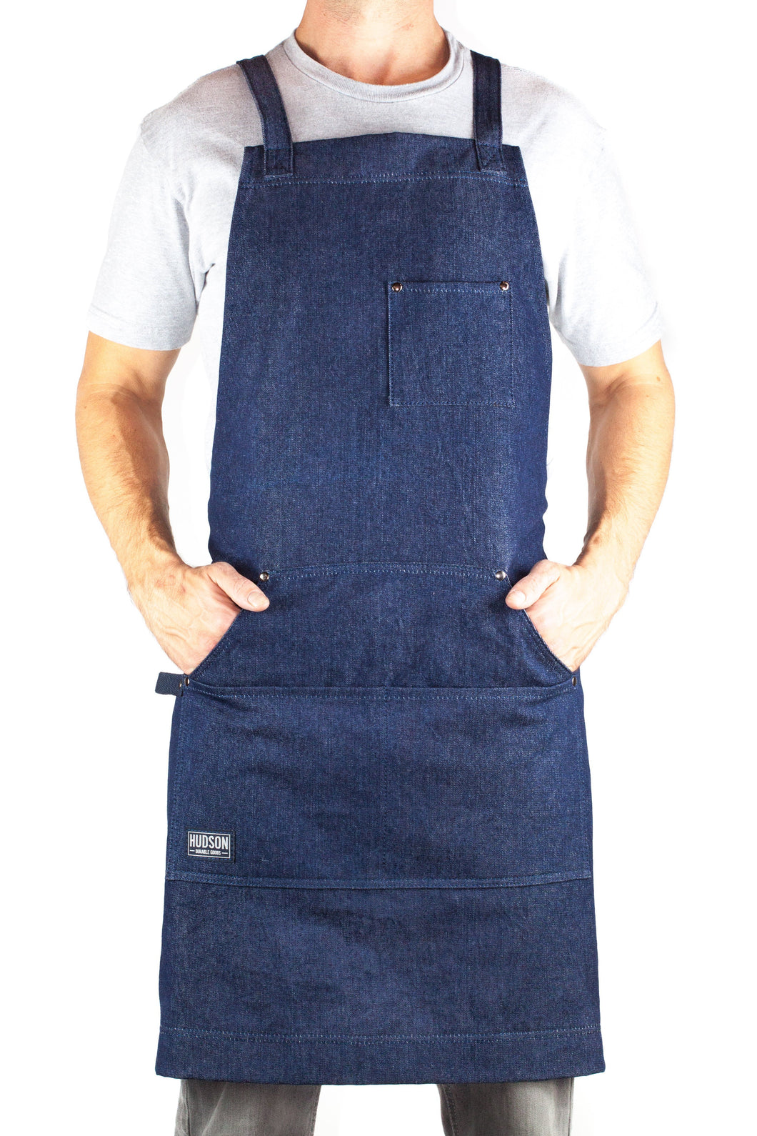 Hudson Durable Goods HDG805D - Professional Grade Denim Apron