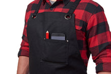 Hudson Durable Goods Home Improvement HDG901 - Heavy Duty 16 oz Waxed Canvas Work Apron (Black)