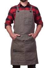 Hudson Durable Goods Home Improvement HDG901G - Heavy Duty 16 oz Waxed Canvas Work Apron (Grey) tools, workshop, woodworking