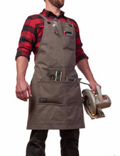 waxed canvas woodworking work apron for men