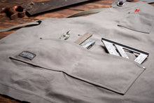 Hudson Durable Goods Home Improvement HDG901G - Heavy Duty 16 oz Waxed Canvas Work Apron (Grey)