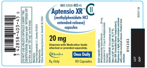Aptensio XR - Patient Pharmacy