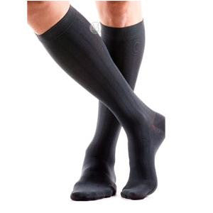 BSN Jobst® Unisex ActiveWear Knee-High Mild Compression Sock, Full Calf, Cool Black (Pair)