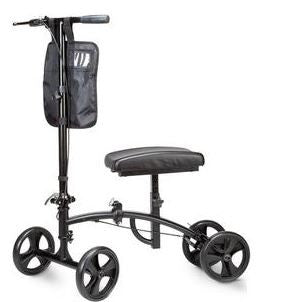 "Cardinal Health™ Hammertone Steerable Knee Walker Scooter, With Basket, 8"" Wheels, 300 lb Capacity - Patient Pharmacy"