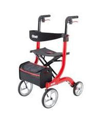 Drive Nitro Aluminum Tall Height Rollator Red Frame - Patient Pharmacy