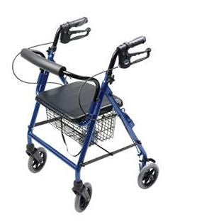 """Graham Field Lumex® Walkabout Four Wheel Hemi Rollator 23-1/2"""" W x  21-1/2"""" D, Royal Blue, 300 lb Weight Capacity"" - Patient Pharmacy"