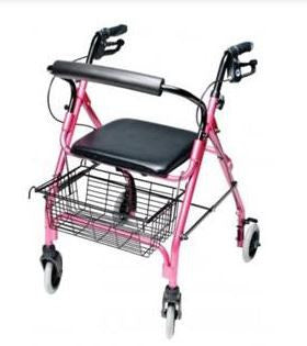 GF Health Products Lumex® Walkabout Lite Four-Wheel Rollator Pink - Patient Pharmacy
