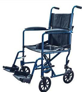 Cardinal Health™ Aluminum Lightweight Transport Chair, Blue - Patient Pharmacy