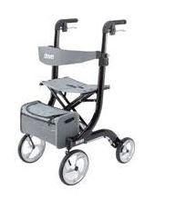Drive Nitro Aluminum Tall Height Rollator Black Frame - Patient Pharmacy