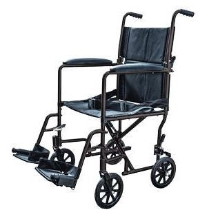 Cardinal Health Aluminum Lightweight Transport Chair, Black - Patient Pharmacy