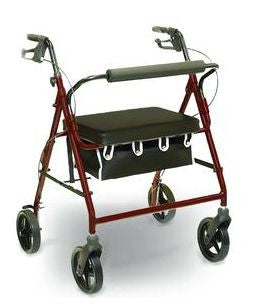 "Professional Medical Imports Bariatric Rollator Marbled Burgundy, 22"" H x 19"" W x 13"" D Seat Dimensions - Patient Pharmacy"