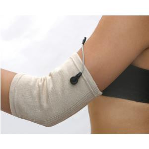 "Biomedical Life Systems BioKnit® Conductive Fabric Sleeve Medium, Fits up to 14"" Circumference, Unisex"