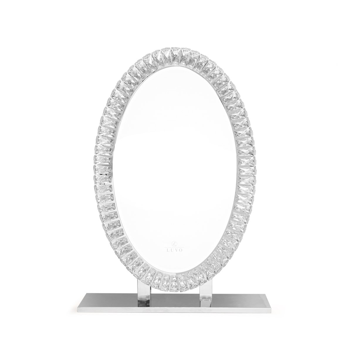 Diamond Vanity Mirror - Oval Luvo Store