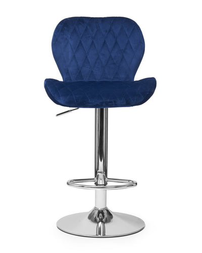 Quilted Royal Blue High Stool | Luvo Store