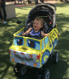 Baby in Yellow Dump Truck Stroller Costume