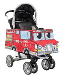 Angled view - Red Fire Engine Stroller Costume
