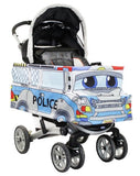 Side View - Police Car Stroller Cover Accessory