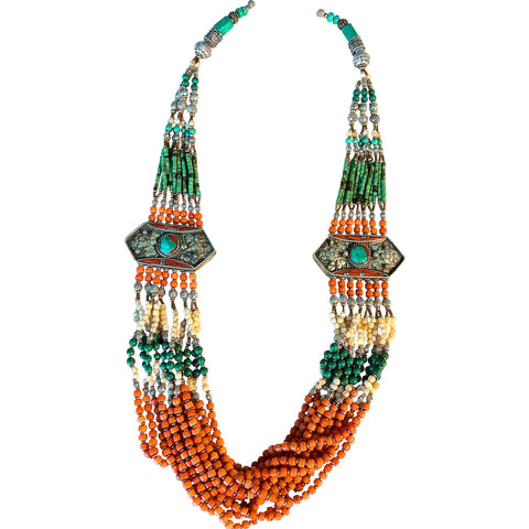 Tibetan Statement Necklace with a Twist!