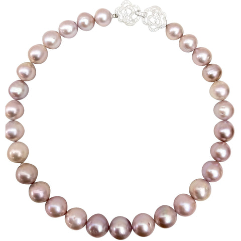 Lustrous 13mm Pink Freshwater Pearl Necklace
