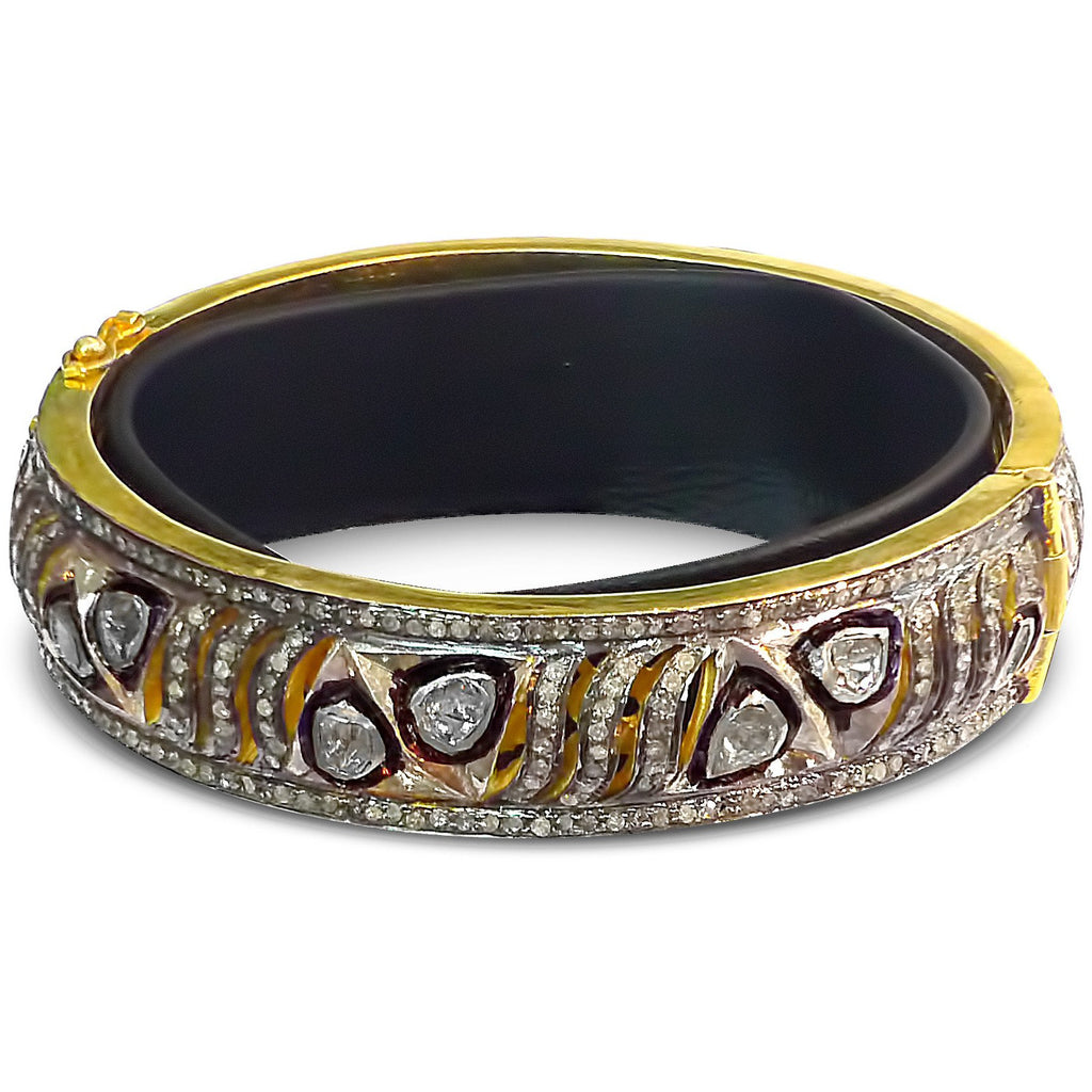 Layer on Some Luster!  Rose Cut Diamond Bangle