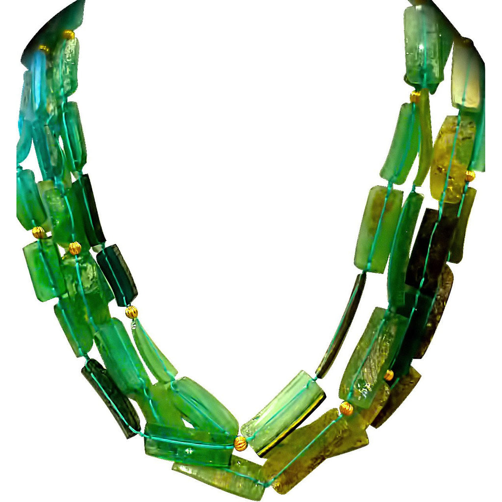 Ancient Roman Glass Torsade Necklace