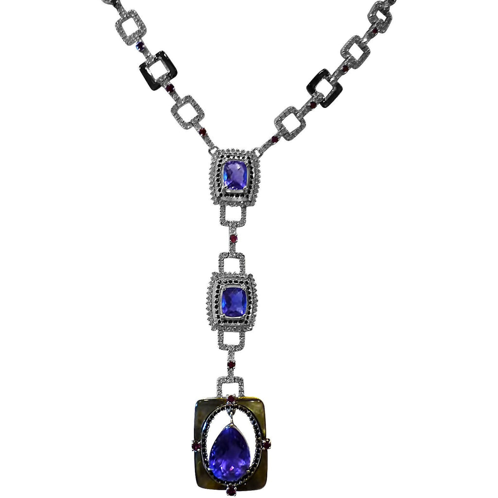 Spectacular Iolite Drop Necklace