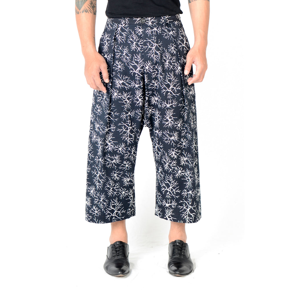 Men Tattoo Low Crotch Pants: Veins