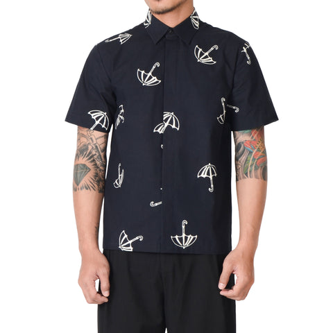 Men Tattoo Short Sleeve Shirt: Payung