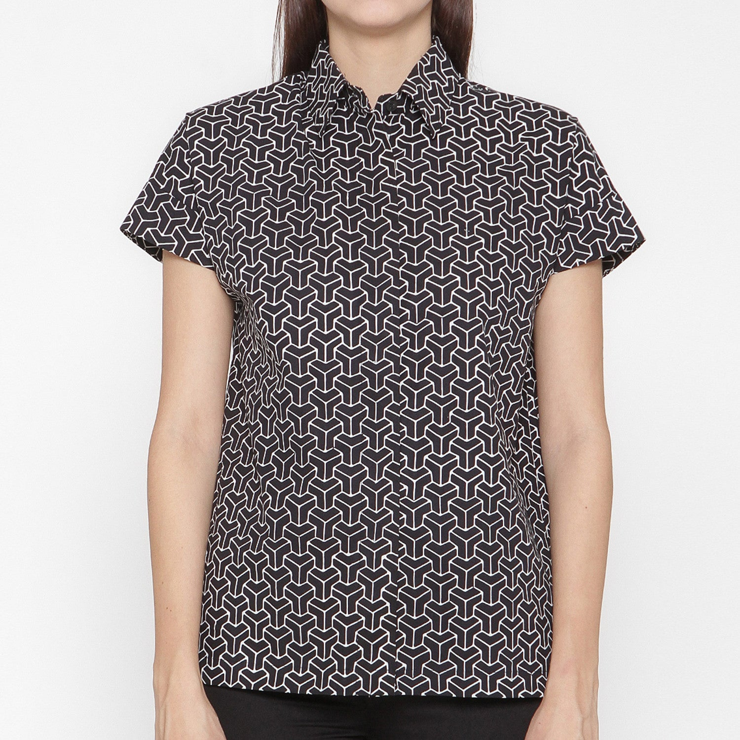 Women Short Sleeve Shirt : 3D