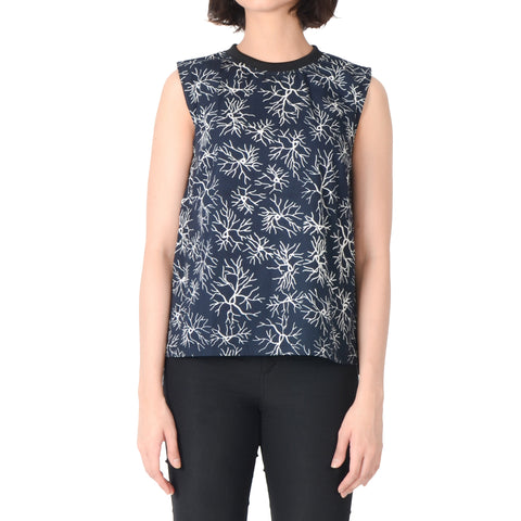 Women Sleeveless Top: Veins
