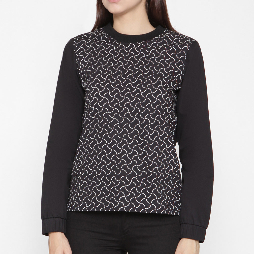 Women Long Sleeve T-Shirt : Rectangular