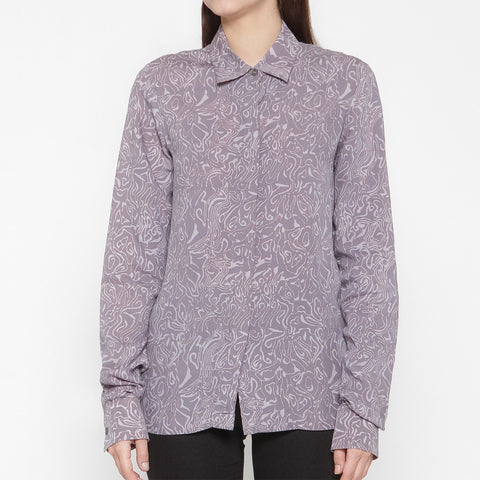 Women Long Sleeve Shirt : Mega Mendung