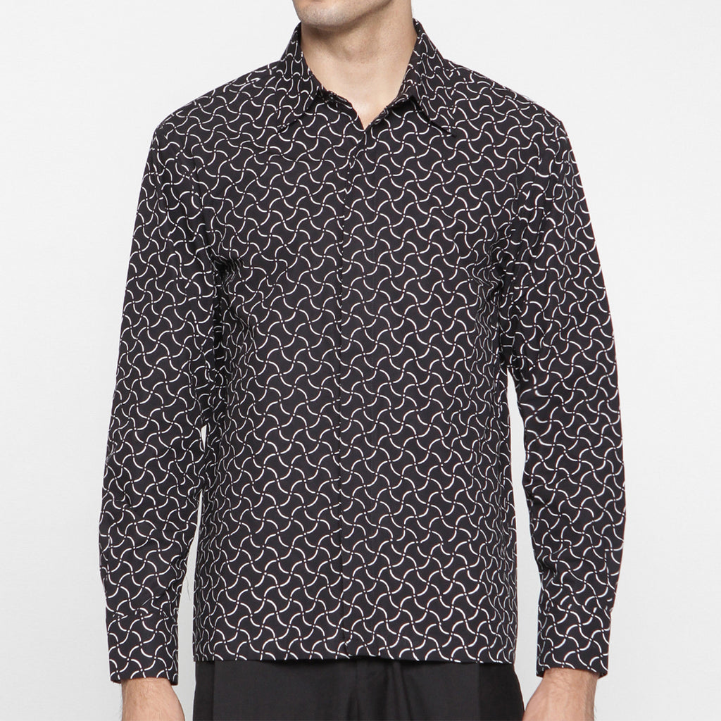 MEN LONG SLEEVE SHIRT : RECTANGULAR
