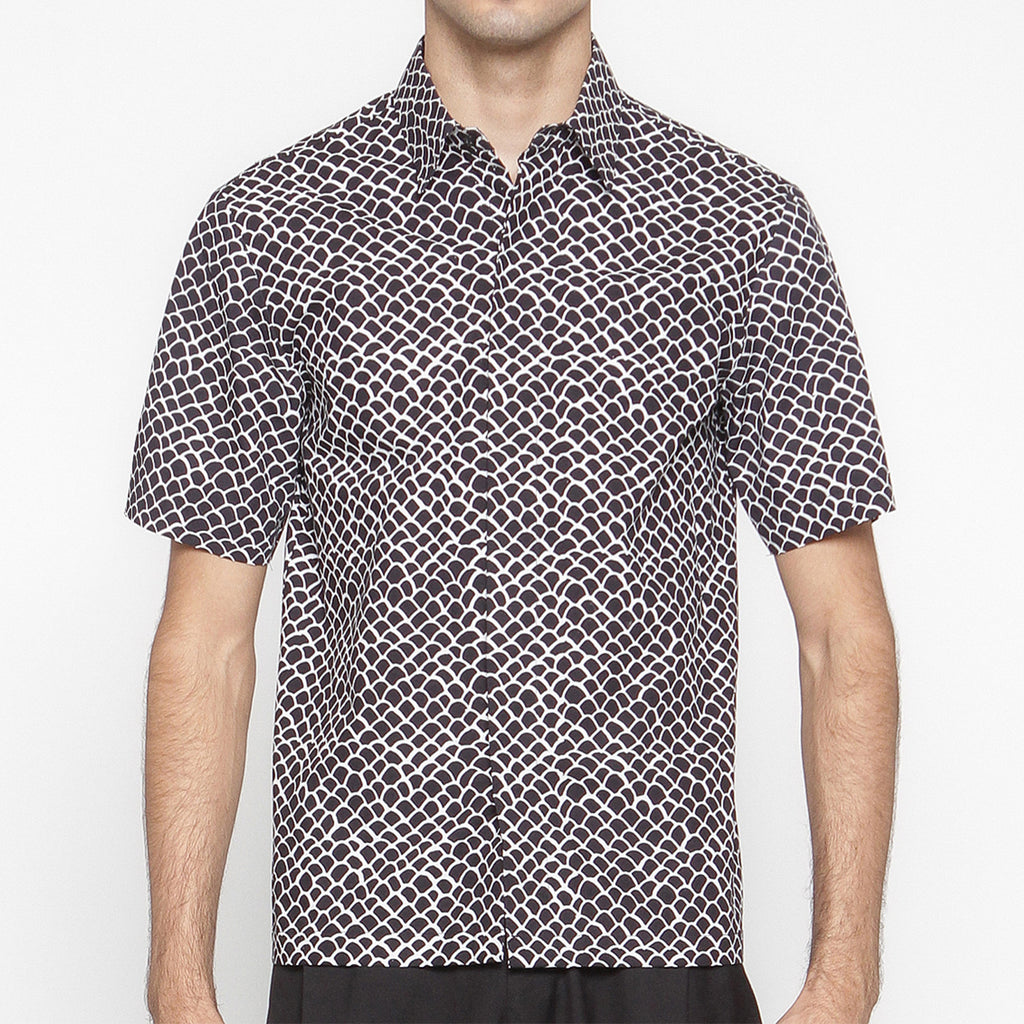 Men Tattoo Short Sleeve Shirt : Gringsing