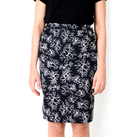 Women Jeans Skirt: Veins