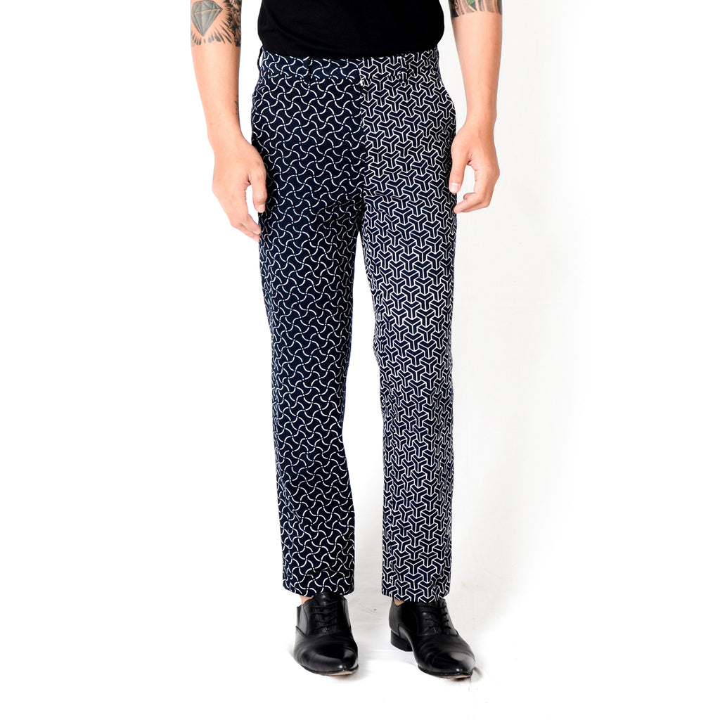 Men Slim Pants: Rectangular & 3D
