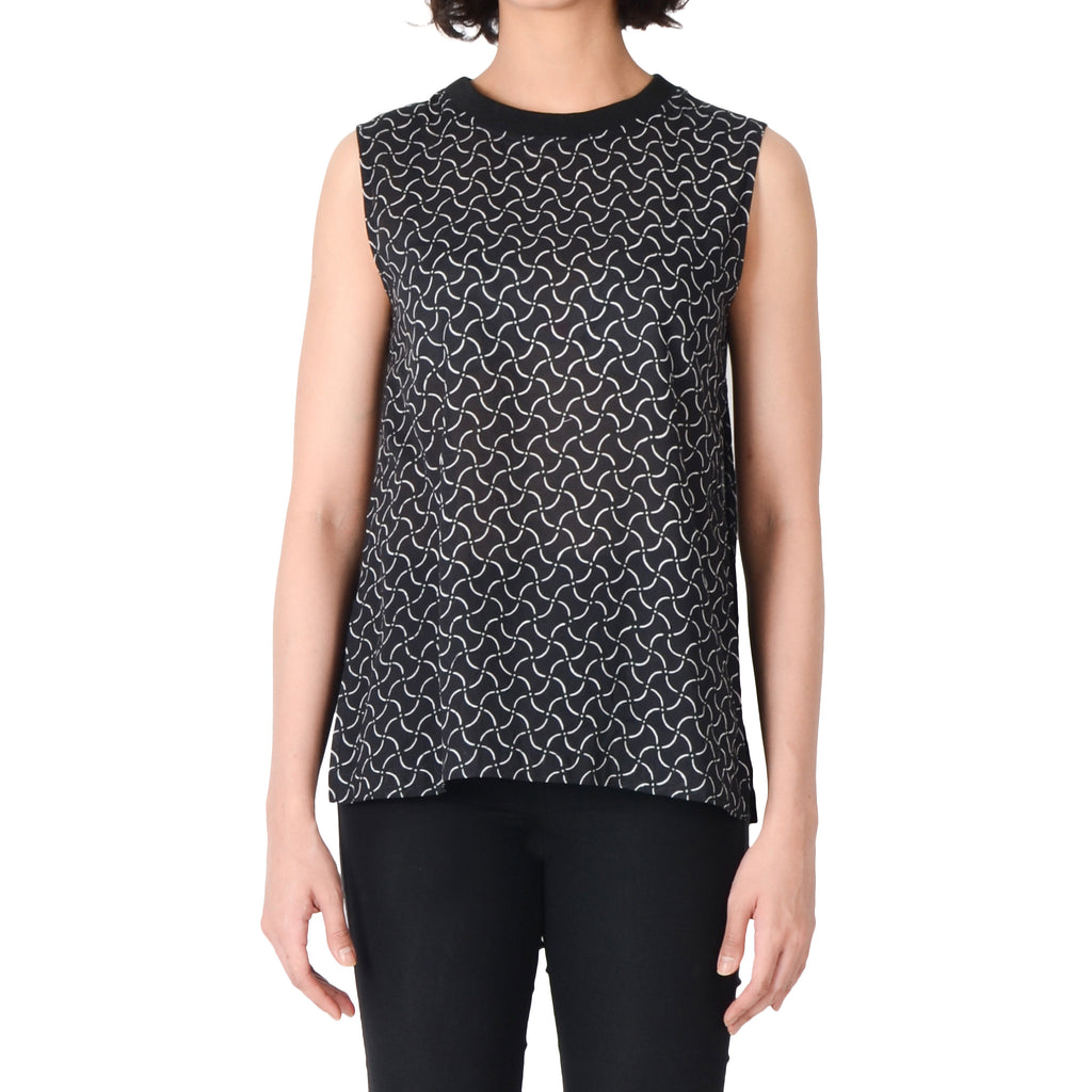 Women Sleeveless Top: Rectangular