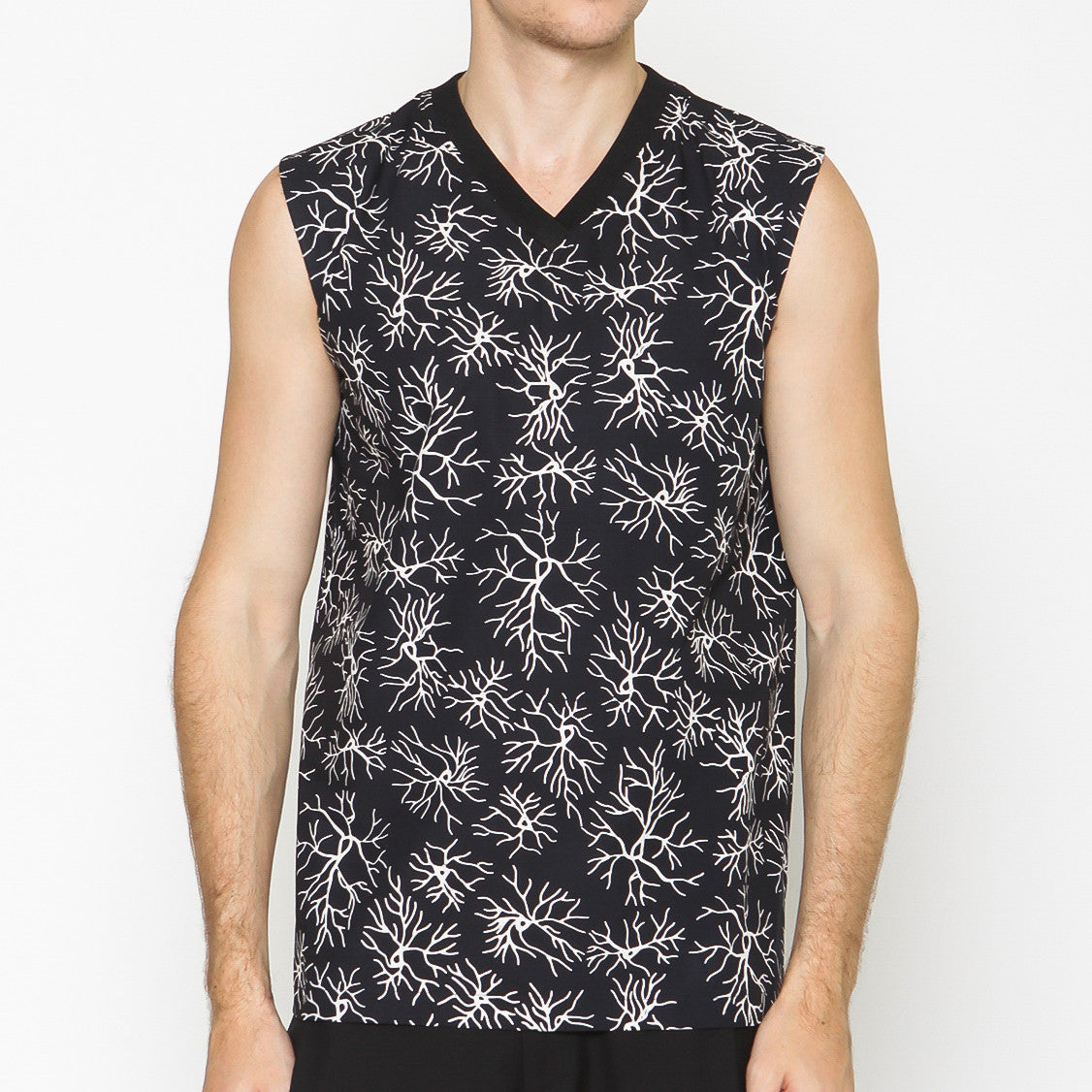 Men Sleeveless Top : Veins
