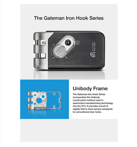 Gateman Z10 Digital Lock hook bolt