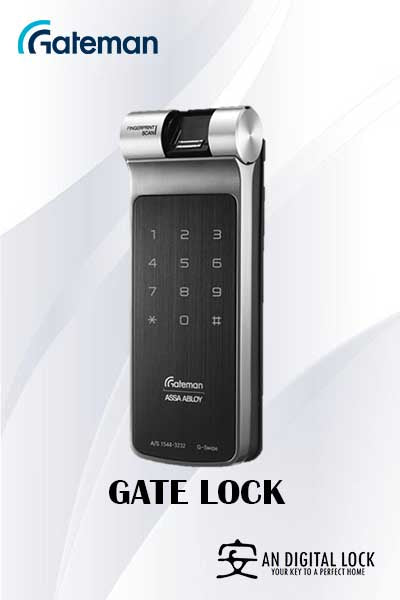 Gateman Digital Lock G-Swipe G Gate Lock
