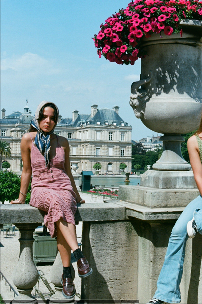 Paris with Marguerite and Emma.