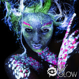 UV Glow in the Dark Blacklight Face and Body Paint 0.34oz - Set of 3 Tubes - Neon Fluorescent